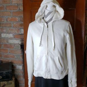 J. CREW Vintage fleece Hooded Jacket Size XL